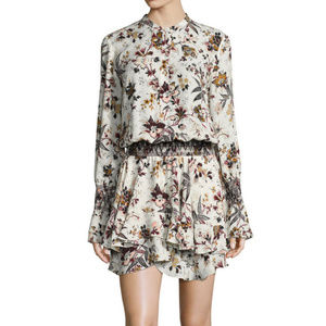 A.L.C. Landry White Floral Mini Dress Size 2
